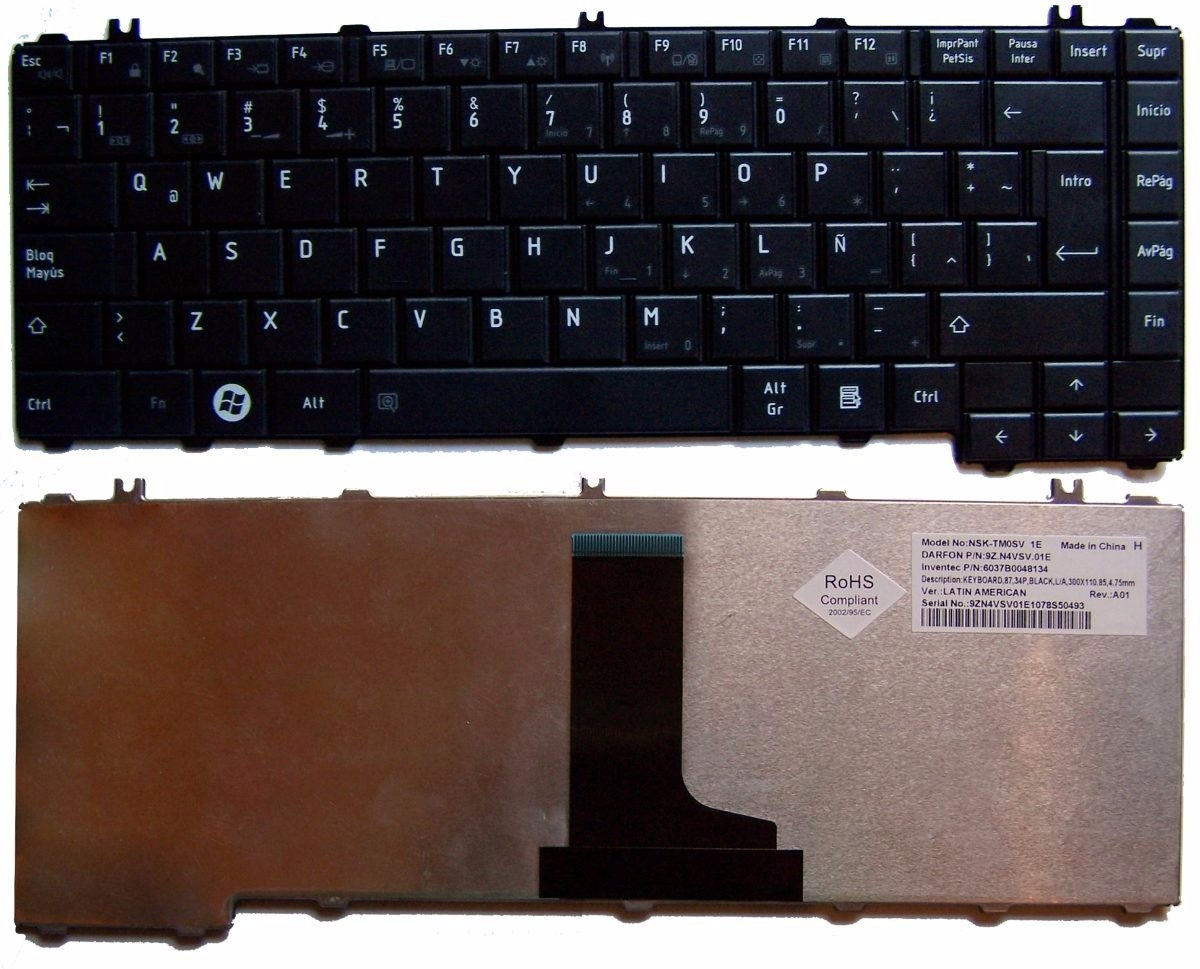 TECL. NOTEBOOK TOSHIBA C645/C467/L745
